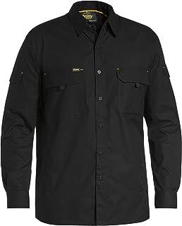 BISLEY WORKWEAR Men's X Airflow Ripstop Shirt - Long Sleeve Black