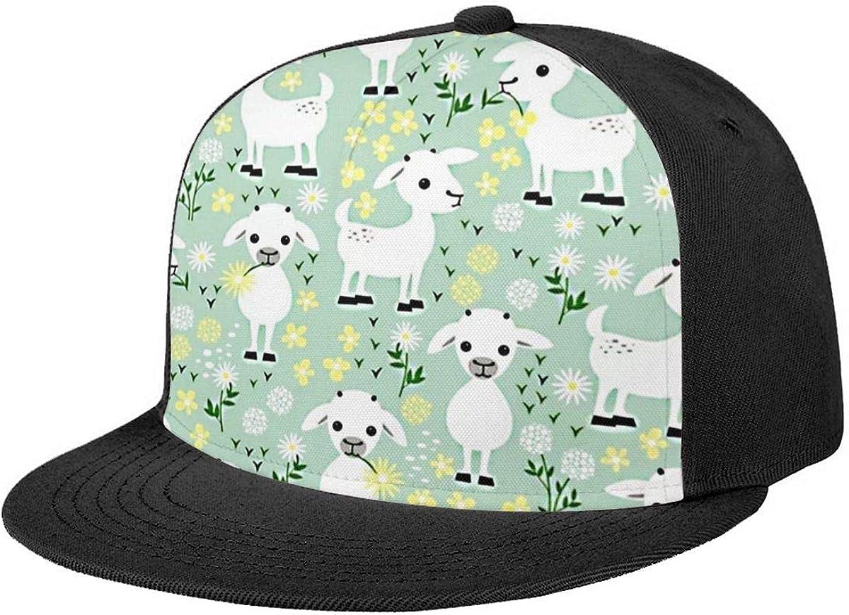 Cute Alpaca Classic Snapback Hat Flat Ball Cap Adjustable