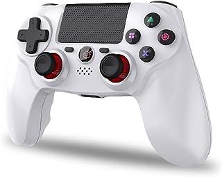 2021年最新版 PS4 コントローラー SHINEZONE 無線 Bluetooth接続 振動機能 重力感応 ゲームパット イヤホンジャック ジャイロセンサー PS4対応 充電ケーブル付き 最新バージョン対応 12ヶ月品質保証(ホワイト)