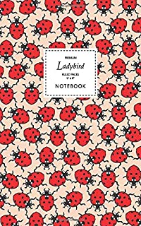 Ladybird Notebook - Ruled Pages - 5x8 - Premium: (Peach Edition) Fun notebook 96 ruled/lined pages (5x8 inches / 12.7x20.3...