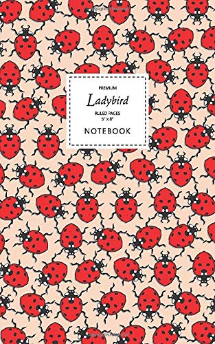 Ladybird Notebook - Ruled Pages - 5x8 - Premium (Peach)