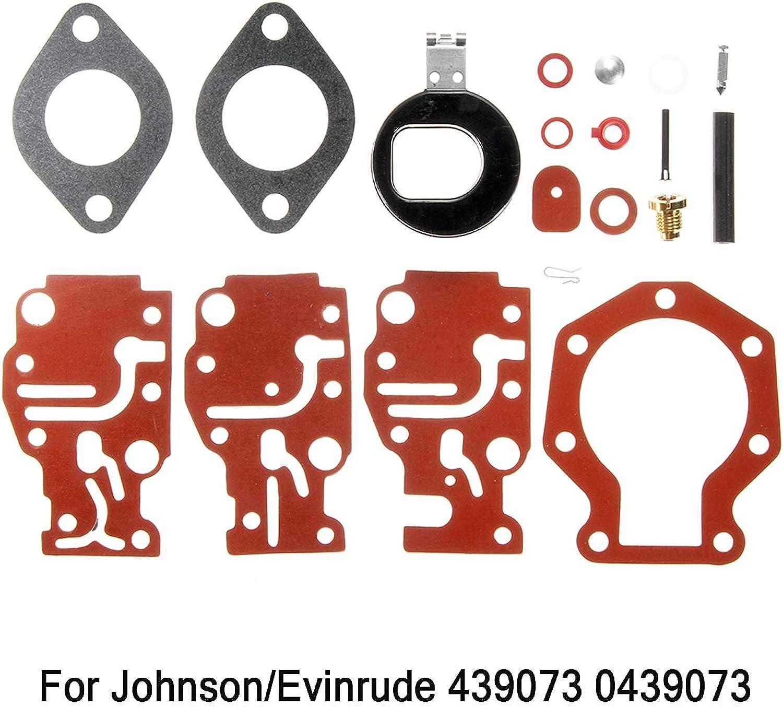 Gift4Car  Carburetor Carb Repair Rebuild Kit for Johnson Evinrude 439073 0439073