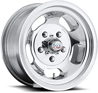 US Mags Indy 15 Polished Wheel / Rim 5x4.5 with a -50mm Offset and a 72.6 Hub Bore. Partnumber U10115006535