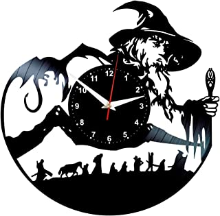 Vinyl Clock Lord of The Rings - Record Wall Art - Gandalf Decor - LOTR Gifts