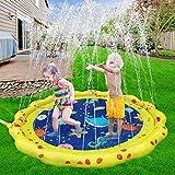 VATOS Splash Pad Wasser-Spielmatte Outdoor Sommer Splash Play Matte Garten Splash Spielmatte Sprinkler und Splash Play Matte für Baby Party 59 ' Spaß für Kinder 2 3 4 5 Jungen und...