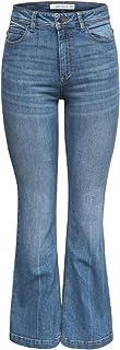 Jacqueline de Yong NOS Women's Jdyelia Flared Rw DNM Noos Jeans, Medium Blue Denim, 30