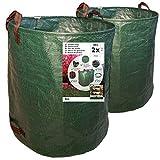 7doo 2X 300 L Sacchi Giardinaggio XXL, Resistente Sacco Raccogli Foglie Erba di 2a Generazione, Prodotto Professionale, Attrezzatura Giardino e Giardinaggio, in Polipropilene Pieghevole
