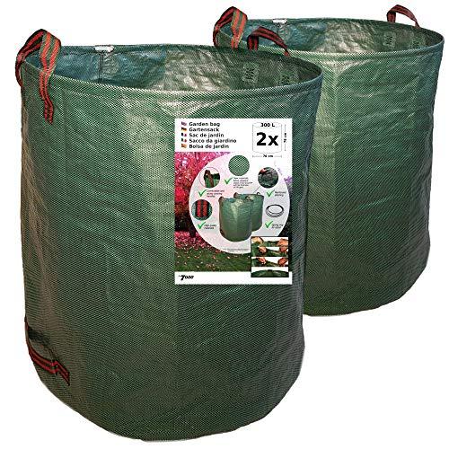 7doo Sacos Jardin Set 2X 300L 2da Generación, Bolsas Basura Jardin, Bag, Cesto Jardin, Herramientas Jardinería Kit Jardineria Productos De Jardineria Bolsa Reutilizable Contenedores En Polipropileno