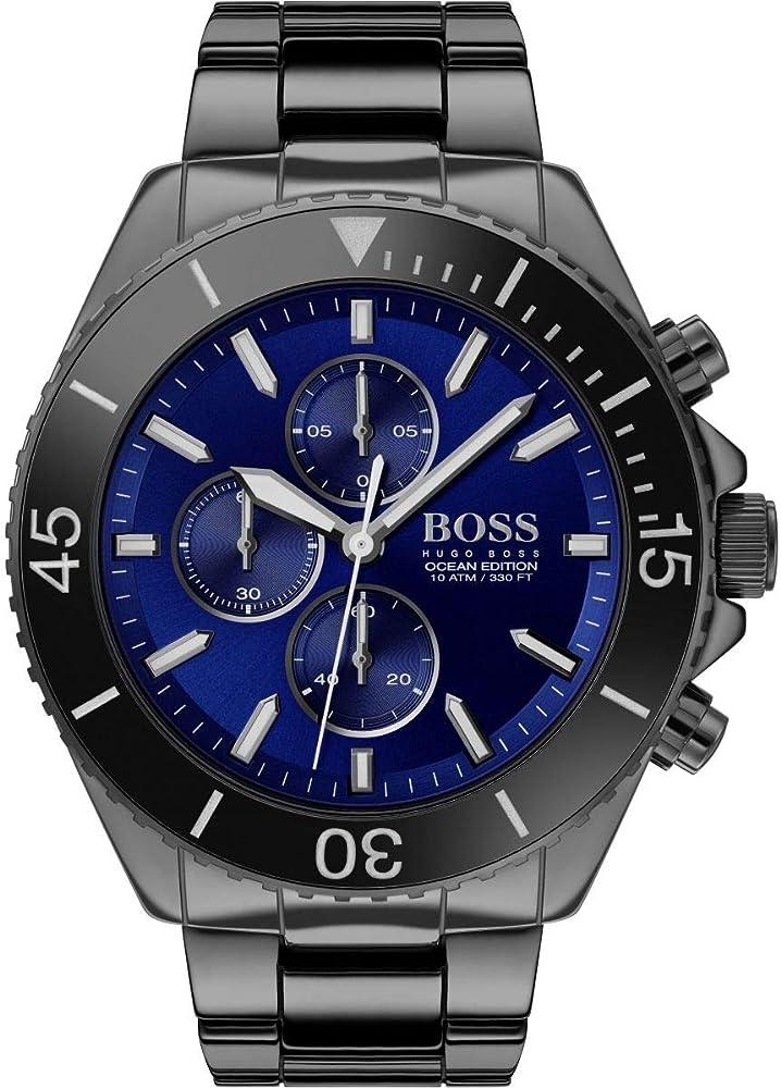 Hugo boss, orologio, cronografo per uomo con cinturino in ceramica e cassa  in acciaio inossidabile 1513743