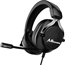 PC Gaming Headset 3.5mm Audio Stereo Sound PS4 Gaming Headphone for Mac Latop Nintendo Switch Games Xbox One Headset,50mm Driver Noise-Isolation Microphone Gamer Headset