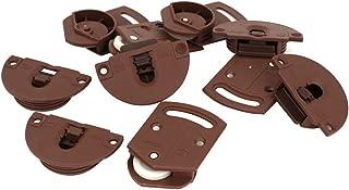 Wardrobe Sliding Door Roller Gear Track Panel Internal Kit 5 Pairs