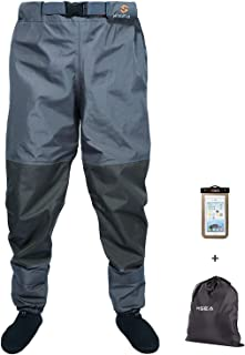 HISEA Breathable Stockingfoot Insulated Waist Waders with Neoprene Stocking Foot for Duck Hunting Fly Fishing Kayaking