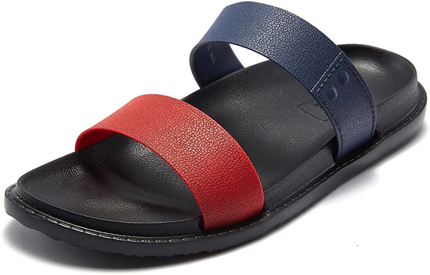 Outdoor Slipper Sandal Ankle Strap Sandals Man Beach shoes man summer slipper Multicolor (38-44 Size) (color   Red, Size   38)