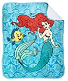 Disney The Little Mermaid Spirit of The Sea Sherpa Throw Blanket - Measures 50 x 60 inches, Kids Bedding Features Ariel - Fade Resistant Super Soft - (Official Disney Product)