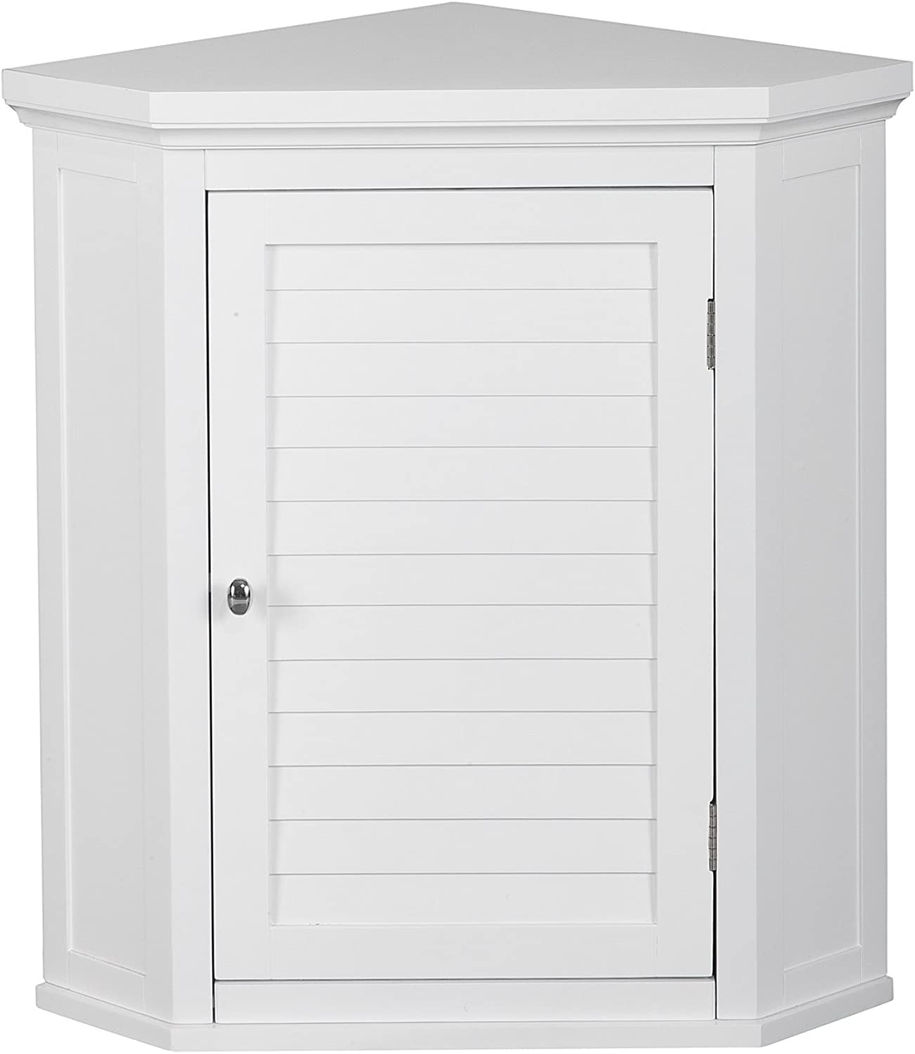 Elegant Home Fashions Adriana Corner Wall Cabinet with 1-Shutter Door