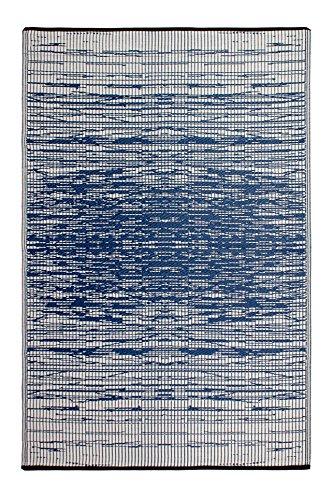 FAB HAB Habitat Reversible, Innen- / Außenwitterungsbeständig Bodenmatte/Teppich - Brooklyn in Blue (120 cm x 180 cm)