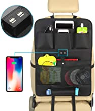 MESIMME Car Organizer for Back Seat with 4 USB Charging Ports