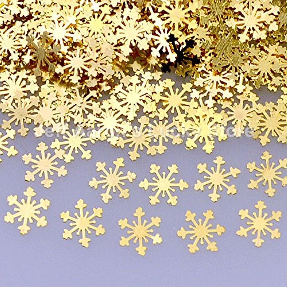 通信するオペレーター外科医Ithern(TM)1000ピース黄金の雪片金属ネイル箔デカール3Dネイルアートデコレーションツールステッカー合金スライスネイルスパンコール08