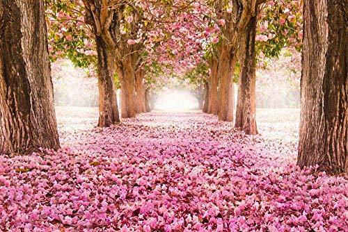 LTXMZ 1 000 stycken pussel för vuxna körsbärsblommor träd överallt för barn vuxna familj leker lag