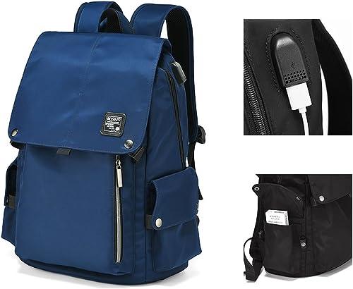 Business USB-Lade-Schnittstelle wasserdicht M er und Frauen Laptop-Rucksack 15,6-Zoll-Herrenmode Student Tasche Freizeit Reisetasche