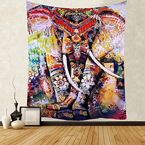 MIKUAJ tapizTapiz Impreso Flor Planta Verde Colgante de Pared Hippie Mandala Colcha Arte Bohemio decoración del hogar