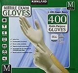 Kirkland Signature nHlYMR Nitrile Exam Multi-Purpose Medium Gloves Latex-free, 400 Count