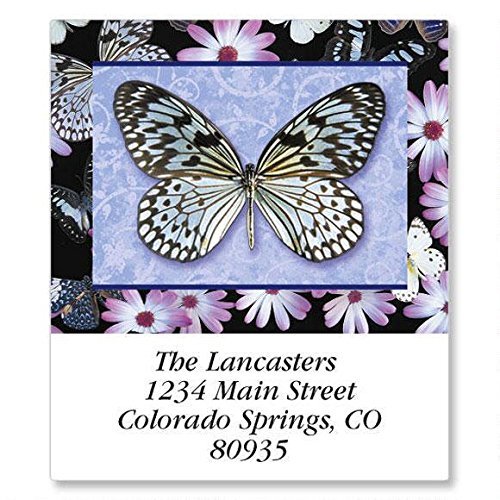 Butterflies All Year Round Self-Adhesive, Flat-Sheet Select Address Labels (12 Designs)