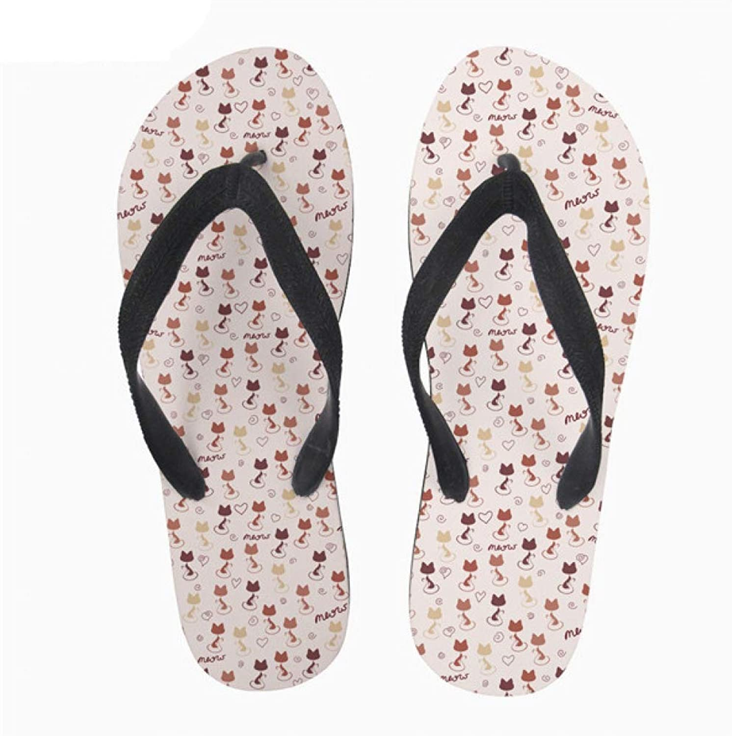 MEIZOKEN Feminino Cartoon Pusheen Cat Women Casual Summer Flip Flops Woman Girl Slip-on Home Beach Slippers shoes