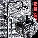 Grifos de ducha Negro de bronce de bronce grifo de la ducha ducha Conjunto estadounidense lluvia juego de ducha de baño retro spray de ducha fijos mayorista Sistema de Ducha