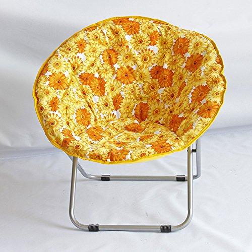Chaises pliantes Xiaolin Chaise de Plage Paresseux Chaise inclinable Chaise Ronde canapé Chaise Bureau Balcon Chaise (Couleur : 04)