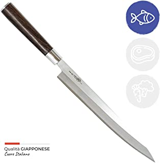 Totiko Japan Knives, Cuchillo de cocina japonés profesional, Sashimi Yanagiba Sakai 24 cm - 8,5 pulgadas