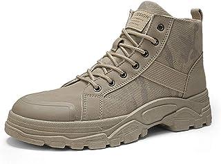 JHKGY Bottes De Randonnée - Outdoor Boots-Chaussures De Cheville De Trekking en Toile Haute,avec Support De Voûte Plantair...