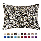 ShopBedding Luxury Satin Pillowcase for Hair – Queen Satin Pillowcase with Zipper, Jaguar Print (1 per Pack) – Blissford