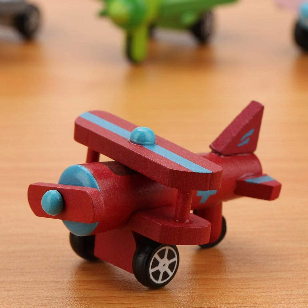 Safe Nontoxic Bright Color Wooden Toy Cars Military Police Series Toy Cars for Kids for Kids
