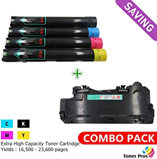 Toner Pros (TM) [Combo Pack] Compatible Toner for Xerox Versalink C7020/C7025/C7030 Printer [Extra High Yield] BK 23,600 & Color 16,500 Pages(106R03737, 106R03738, 106R03739, 106R03740) + Waste Bottle
