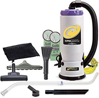 ProTeam Commercial Backpack Vacuum Cleaner, Super QuarterVac Vacuum Backpack with HEPA Media Filtration and Residential Cl...