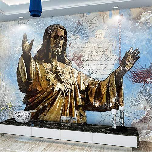 3d wandbild kreative abstrakte jesus retter tapeten kunst wohnzimmer schlafzimmer wand behandlungen dekoration tv foto wand papier 350x256 cm