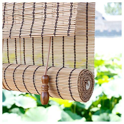 LIANGJUN bamboe gordijn rolgordijn rolgordijn Romeinse venster tinten semi-schaduw zonnebrandcrème stofdichte achtergrond muur opknoping schilderij partitie weven ademend, op maat