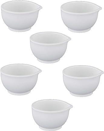 Preisvergleich für MACOSA PT25 Design Eierbecher 6er Set/Kunstsoff BPA frei/Spülmaschinenfest / Eierständer für Frühstückseier/Eierhalter / Stapelbare Eier-Becher (Weiß)