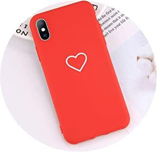 tthappy76 Heart Mobile Phone Shells Cool Back Cover for iPhone X 6 6S 7 8 Plus Xr Xs Max Cover Cases Lovely Love Design Shockproof,Flattened,for iPhone Xr