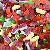 Assortimento Caramelle Gommose Misto Frutta g 600. Angurie frizzanti, ciliegie, pesche zuccherate, morbide banane e fragoline spumose