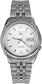 Series 5 Automatic White Dial Mens Watch SNK385