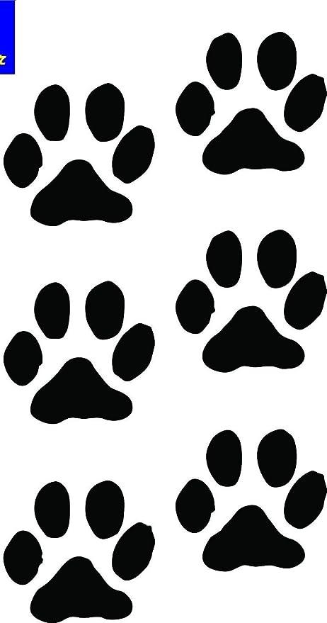 Heart Paw Prints Dog Cat Vinyl Decals Stickers 4 set puppy cute animal car love