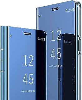 جراب C-Super Mall لهاتف Xiaomi Mi 10T Pro 5G/ Xiaomi Mi 10T 5G، غطاء قلاب S-View مع مسند، غطاء مرآة حماية لكامل الجسم لهات...