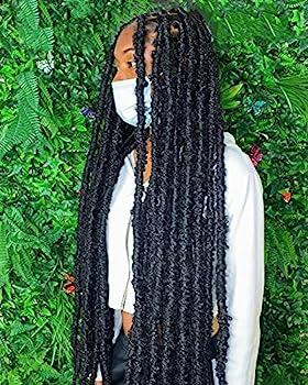 30 Inch Light Weight Butterfly Locs Crochet Hair 8 Packs Long Distressed Butterfly Faux Locs Crochet Hair 1B
