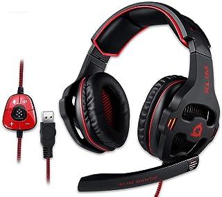 KLIM Mantis - Gaming Headphones - USB Headset with Microphone - for PC, PS4, Nintendo Switch, Mac, 7.1 Surround Sound - Ne...