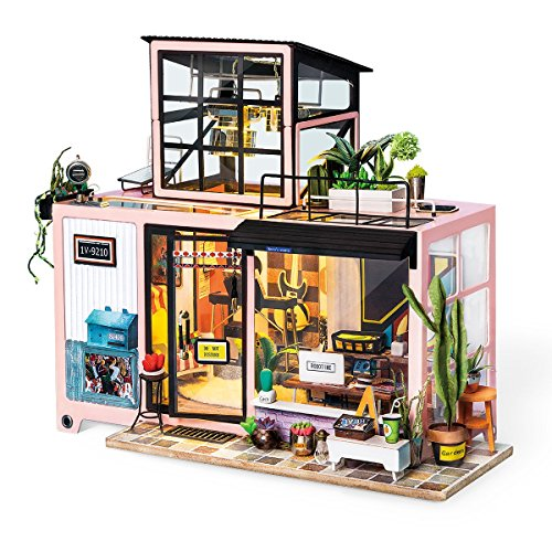 ROBOTIME House Model Building Kits 3 Floor Living Room Miniature DIY Kits for Kids and Adults