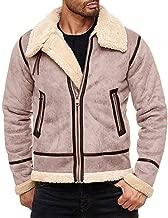 Hooded Tops for Men Warm Faux Fur Sweatshirt Lapel Leather Zipper Outwear Outwear Coats Windbreaker Jacket WEI MOLO