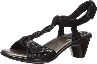 Aravon Women's Medici T Strap Sandal, Black, 6.5 D US