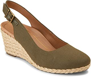 Vionic Women's Aruba Coralina Slingback Wedge - Espadrille Wedges with Concealed Orthotic Arch Support